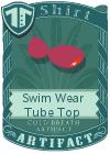 Swim Wear Tube Top Purple