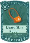 Lizard Skin Pouch Orange