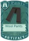 Wool pants black