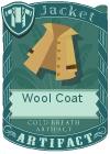 Wool coat collar mint