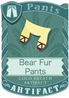 Bear Fur Pants Yellow