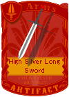 High Silver Long Sword