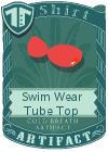 Swim Wear Tube Top Red
