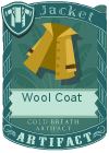 Wool coat collar yellow