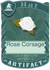 Rose Corsage White