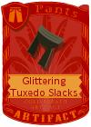 Glittering Tuxedo Slacks Black