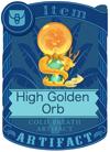 High Golden Orb