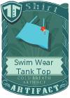 Swim Wear Tank Top Blue