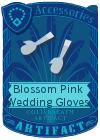 Blossom Pink Wedding Gloves