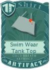 Swim Wear Tank Top Grey