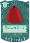 Cotton shirt collared red