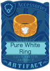 Pure White Ring