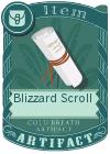 Blizzard Scroll