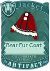 Bear fur coat red