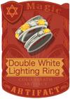Double White Lightning Ring