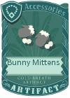 Bunny mittens grey