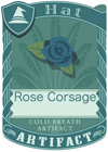 Rose Corsage Blue