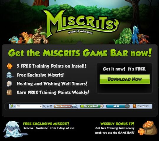 File:Get the Miscrits Game Bar now!.jpg