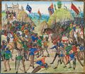 Schlacht bei Crécy 1346 by Jean Froissart, 1405.jpg