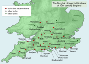 Wessex Anglo-Saxon burhs 10.Jh