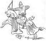 Berittener Bogenschütze, Frankreich 14.Jh. handbuchderwaff00collgoog, Fig469