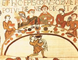 Feast of William the Conqueror - Bayeux Tapestry 01.jpg