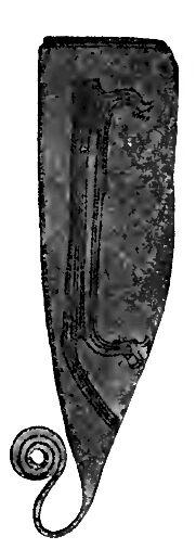 Schiff auf dänischem Bronzemesser RdgA Bd4, Tafel 10, Abb 06