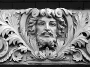 Green Man Bas Relief (Detail)