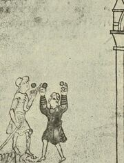 Ballspiel, RdgA Bd.1, Abb.029 HS. Cott. Claudius B. IV fol. 35