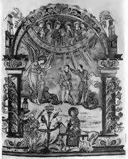 Verkündigung an die Hirten Bened. Rouen, Bibl. Y 7