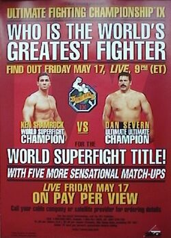 UFC 9 event poster
