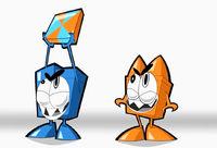Blue&orange Nixels