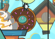 On the top of donut