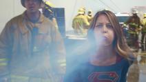Kara using her superbreath
