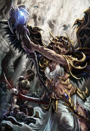 Angel warrior scythe