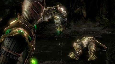 """Mortal Kombat X - Shinnok's """"Flick Trick"""" Fatality"""