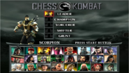 MK Deception Chess Kombat Select Screen