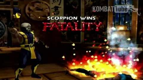 "Gold Scorpion ""Toasty"" Fatality"