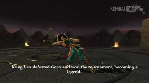 MK-Armageddon Ending- Kung Lao