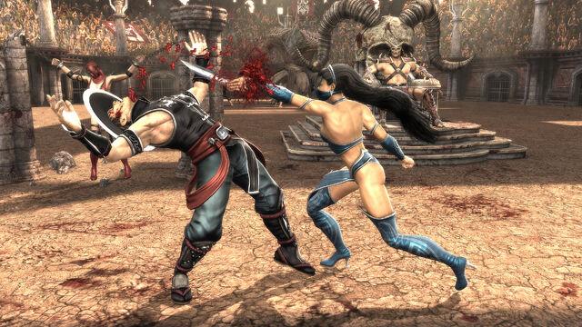 File:!!!Kitana VS Kung Lao MK9.jpg