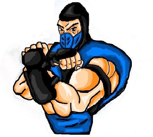 File:Mortal Kombat ll Arcade Art Sub Zero.png
