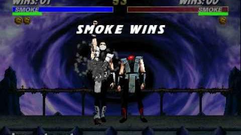 Ultimate Mortal Kombat 3 - Fatality 1 - Human Smoke