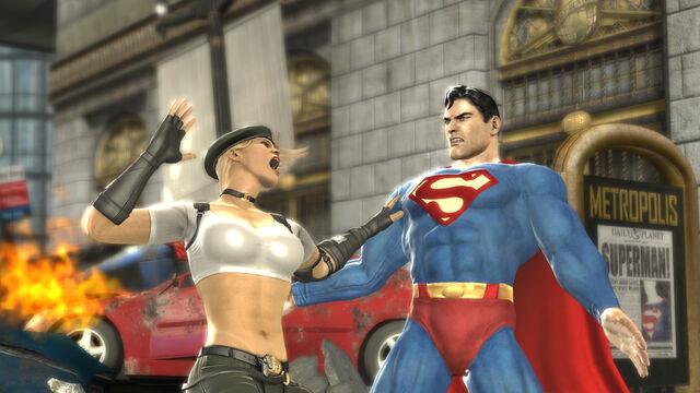 File:Mortal Kombat vs DC Sonya Blade vs Superman.jpg