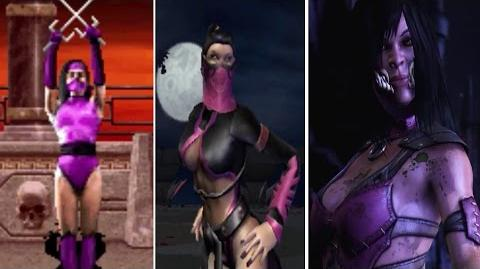 Mileena All Victory Poses - MK2 to MKX