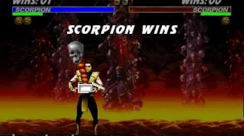 Ultimate Mortal Kombat 3 - Friendship - Scorpion