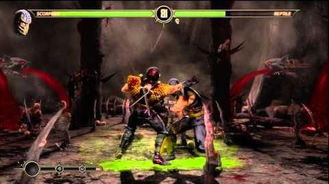 Mortal Kombat 9 - Secret Fight with Classic Reptile (Reptile defeated)