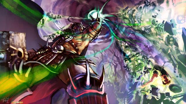 File:Shao-Kahn-during-the-Earthrealm-Invasion-in-Mortal-Kombat-3-Villains-Art-Challenge-on-Game-Art-HQ.jpg