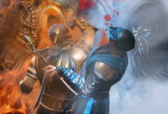 File:Scorpion VS Sub Zero MK 9 by Khaluow.png