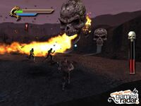 Taven vs. the Giant Flame Skulls & the Hellspawn Ninjas