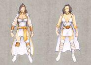 Mortal Kombat Deception Krypt Ashrah Character Concepts Artwork